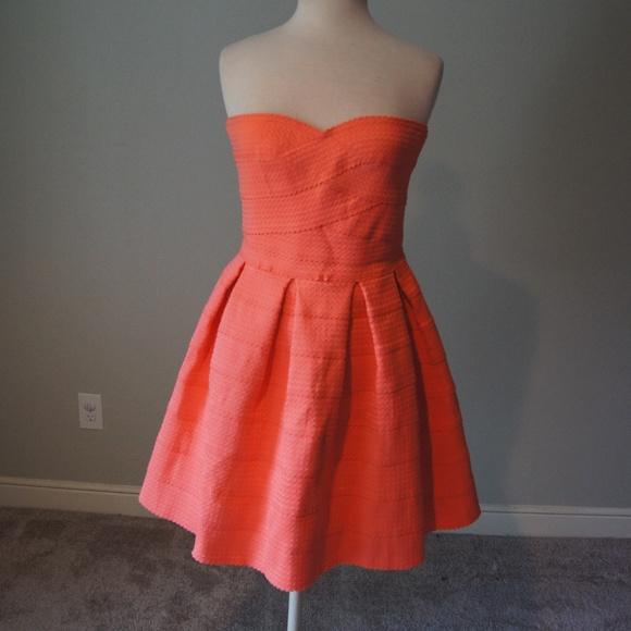 b534d901f95b Jun & Ivy Dresses | Coral Strapless Bandage Party Dress Large | Poshmark